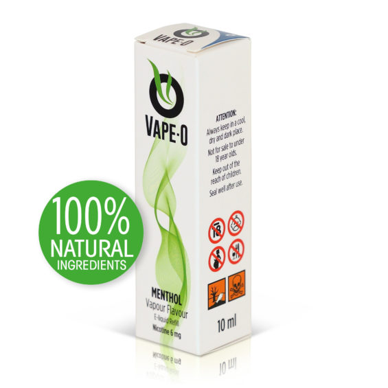 Menthol Flavour 8mg nicotine 20ml bottle