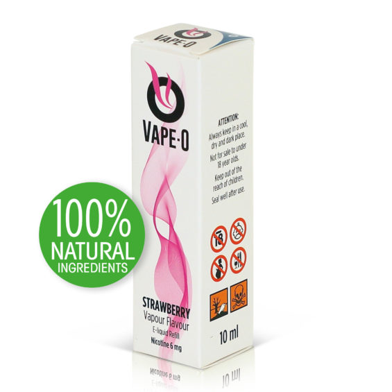 Strawberry Flavour 8mg nicotine 20ml bottle