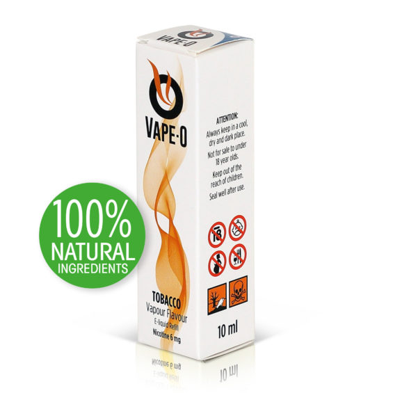 Tobacco Flavour 6mg nicotine 10ml bottle